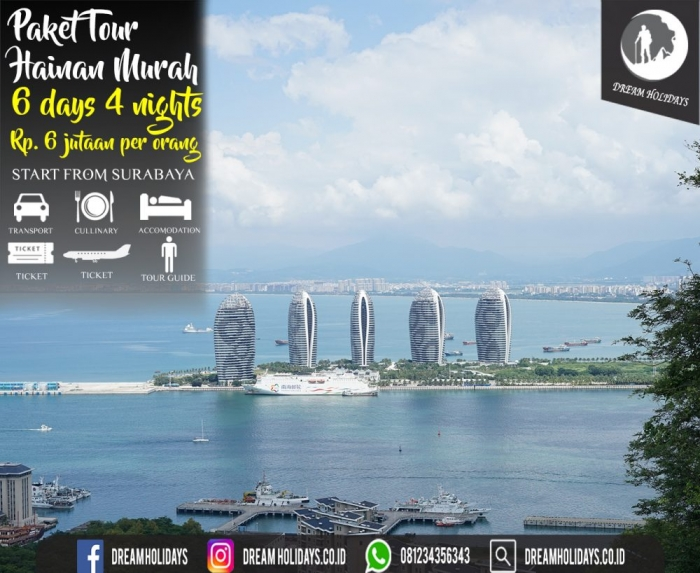 Paket Tour Hainan Murah Start Surabaya