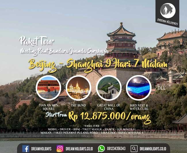 Paket Tour Beijing Shanghai 9d