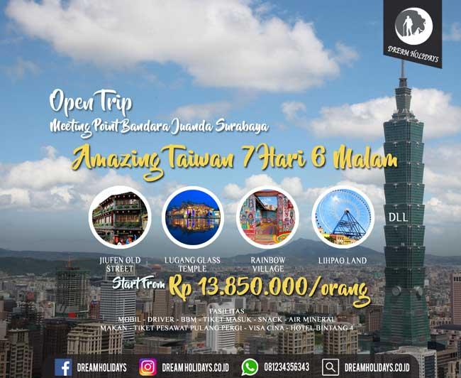 open Trip amazing taiwan