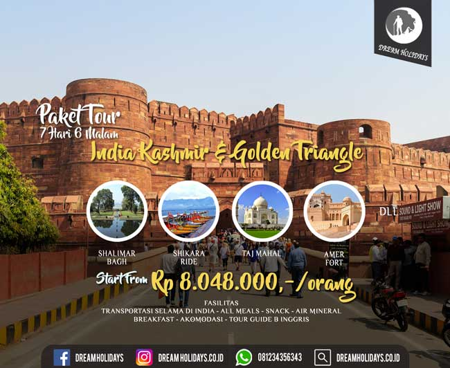 Paket Tour India Kashmir & Golden Triangle