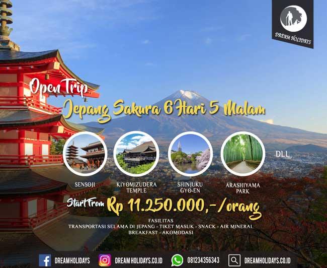 open Trip Jepang sakura