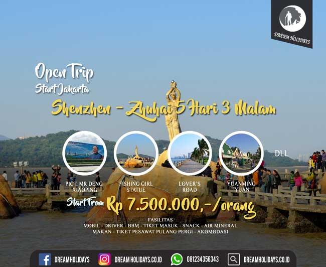 Open trip shenzhen zhuhai