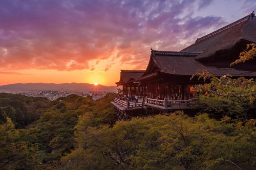 Sunrise di Kuil Kiyomizudera