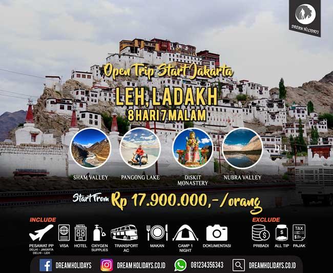 Open Trip Ladakh Start Jakarta